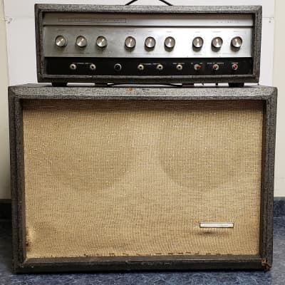 Vintage Sears Silvertone Twin Twelve Model 1484 Piggyback Guitar Amplifier