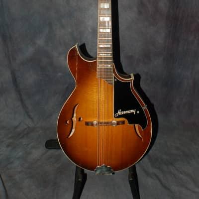 1972 Sunburst Harmony Batwing Mandolin Pro Setup Gigbag for sale