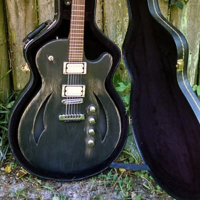 Hembry Semi Hollow / Thinline 2010 worn black for sale