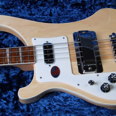 2019 Rickenbacker 4003 Maple Glo 100% Mint Unplayed Condition 4-String Bass Left Handed Silver Case for sale