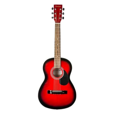 Denver DD34S 3/4 Guitar with Bag Red for sale