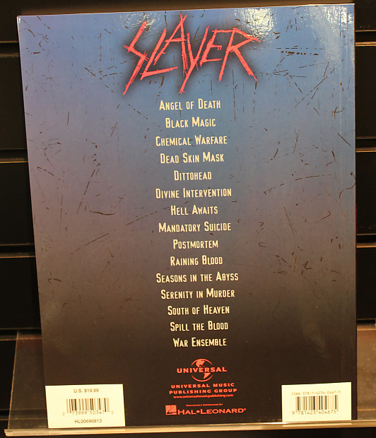 Slayer - Guitar Collection (Songbook) (Guitar Recorded Version)