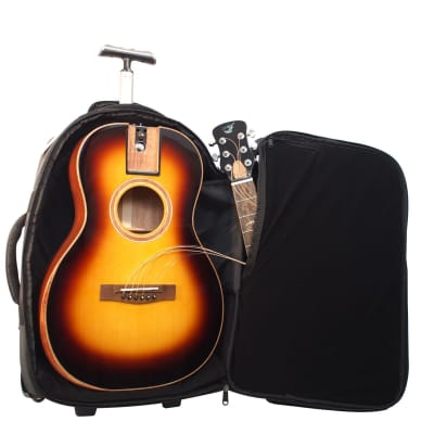 Journey Instruments FP412B Collapsible Parlor Guitar - Burst, Solid Sitka & African Mahogany