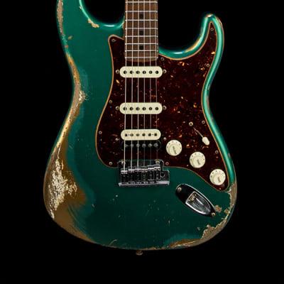 Fender Custom Shop Empire 67 Super Stratocaster Heavy Relic - British Racing Green/Aztec Gold #12905 for sale
