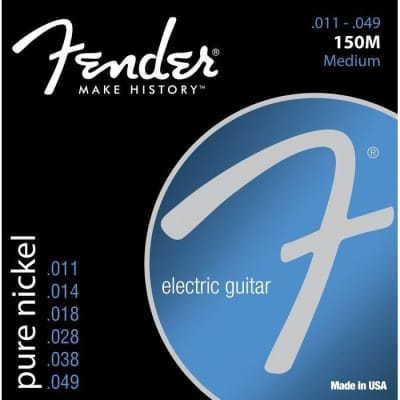 Fender Original 150M Pure Nickel Ball End Strings 11-49 for sale