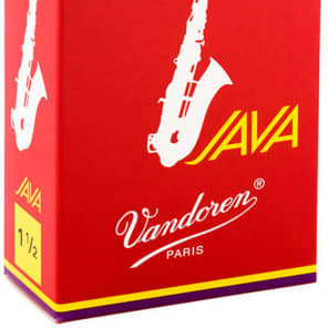 Vandoren SR2615R Java Red Alto Saxophone Reeds - Strength 1.5 (Box of 10)