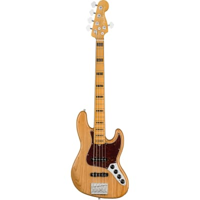 Fender American Ultra Jazz Bass V Aged Natural MN with Case for sale