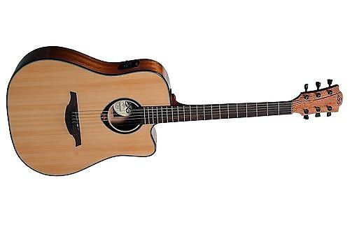 Lag Guitars Tramontane T66dce Dreadnought Acoustic Electric Reverb