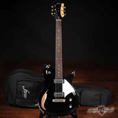 Fano RB6 Oltre Lollar Mini Broiler Electric Guitar w/ Gigbag – Bull Black for sale
