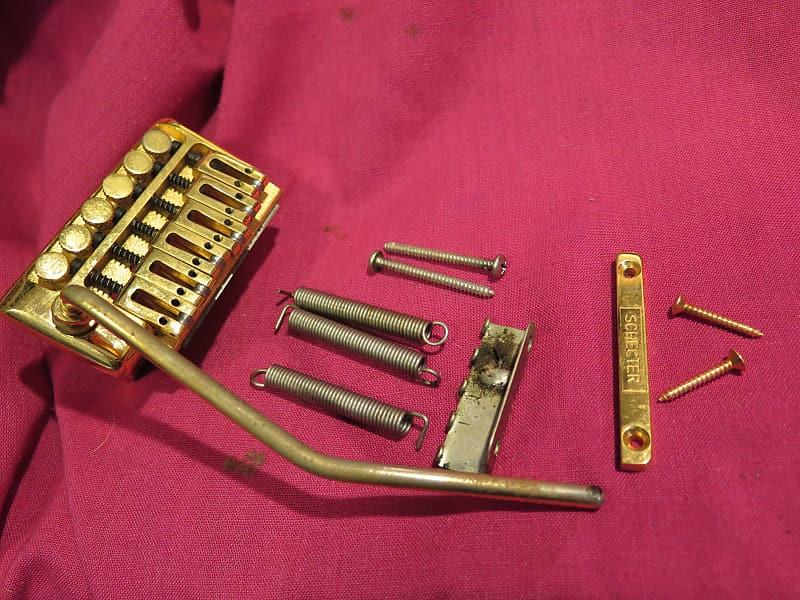 vintage 1984 Schecter gold tremolo vibrato bridge for Scorcher strat PT tele