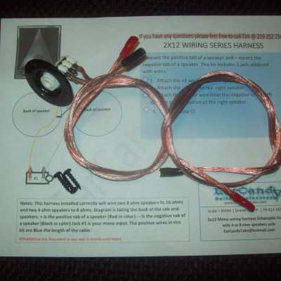 earcandy in parts reverb earcandy 2x12 guitar amp speaker cab series wiring harness w jack cup hardware no