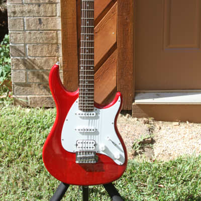 Peavey Predator Plus EXP with Rosewood Fretboard Transparent Red with Hard Shell Case for sale