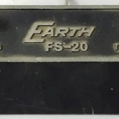 Earth FS-20 Foot Switch Pedal 1960's-70's Black and Silver for sale