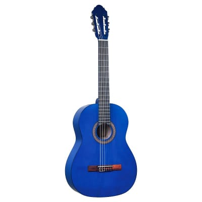 LG-400 Lucida Classical Guitar available in 4/4, 3/4, 1/2 Matte Blue LG-400-BL for sale