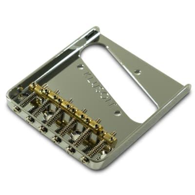 Kluson Steel Bridge For Fender Telecaster w/ 6 Brass Saddles Chrome