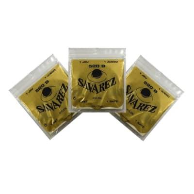 Savarez Guitar Strings 3-Pack Low Tension Nylon 520B White Card
