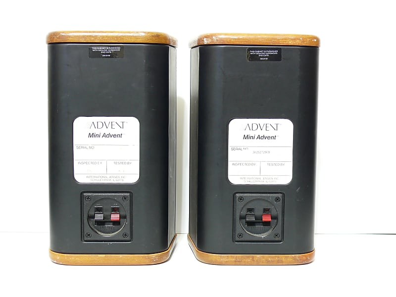 restored advent mini advent bookshelf speakers j s w. Black Bedroom Furniture Sets. Home Design Ideas
