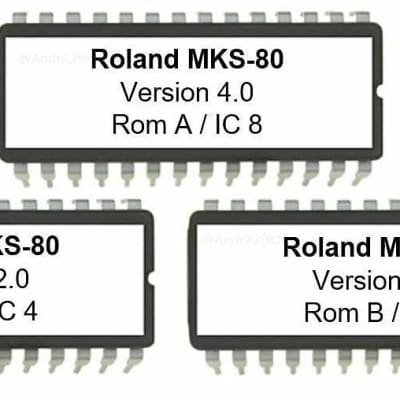 Roland MKS80 REV4 firmware OS EPROM ROM-A V4 ROM-B V2 MKS-80