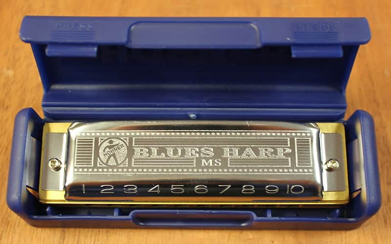 Hohner Blues Harp 532 MS 10 Hole Diatonic Harmonica - A