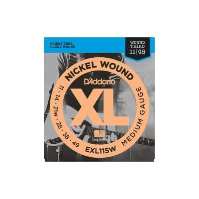 D´Addario EXL115W 11-49 Third Wound Electric Strings