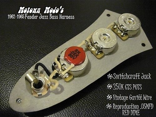 REPRO 1962 - 1965 WIRING HARNESS REPRO .05MFD RED DIME FOR | Reverb