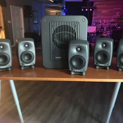 "Genelec 8020B 4"" Powered Studio Monitor 5.1 including subwoofer"