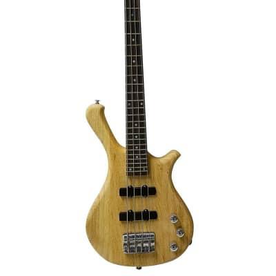 Glen Burton  Short Half Scale Portable Travel Junior Travel Bass (Warwick Style) GBNB-NT Natural for sale