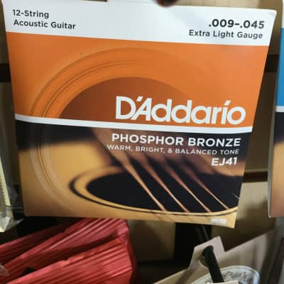 D'Addario EJ41 12-String Phosphor Bronze Extra Light Acoustic Guitar Strings