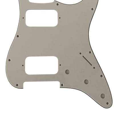 For Fender 3 Ply Double Fat HH Strat Humbucker Guitar Pickguard Scratch Plate,  White