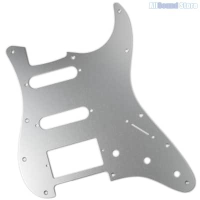 SILVER ANODIZED ALUMINUM Pickguard for Fender® HSS Stratocaster® Strat® USA MIM image