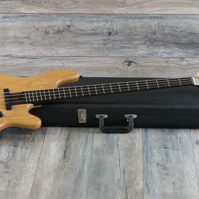 MINTY! Elrick New Jazz Standard 4-String Electric Bass Guitar Natural + OHSC for sale