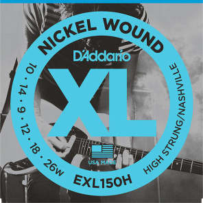 D'Addario EXL150H Nickel Wound Electric Guitar Strings for High-Strung / Nashville Tuning
