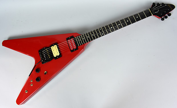 Vintage flying v guitar