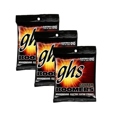 3-Pack GHS Strings GB7M Boomers 7-String Medium Heavy Electric Guitar Strings (10-60) for sale