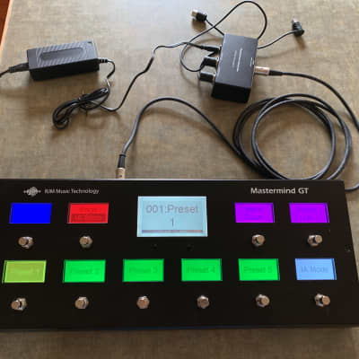 RJM Mastermind GT10 with Phantom Power Box and Cables