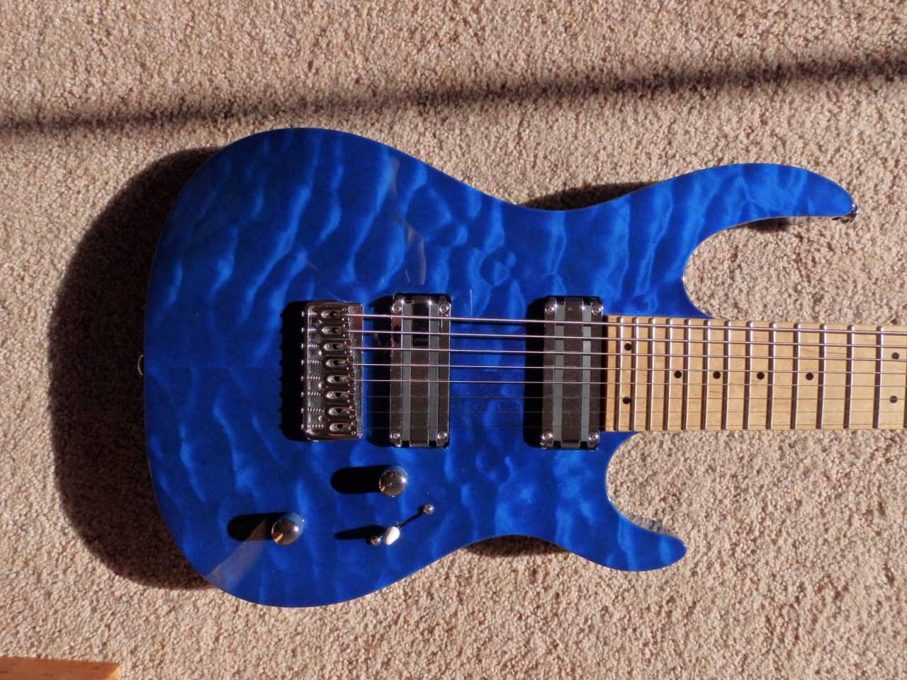 Delapan Musik Tas Gitar Elektrik Blue Daftar Harga Terkini Varetta Black Hitam L Carvin Dc800 8 String Guitar