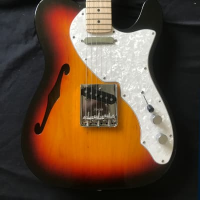 Fender Telecaster Thinline '69 Reissue Partscaster 2002 Sunburst for sale