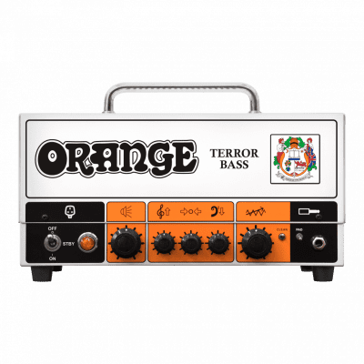 Orange Terror Bass 500W Bass Hybrid Head Amp Amplifier & V-Moda Headphones