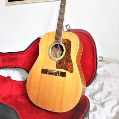 Grandesa  Jumbo solid top  acoustic  guitar 1960s solid spruce JAPAN  + hard case for sale