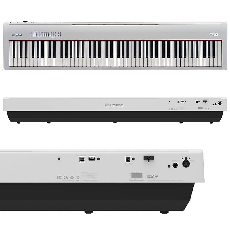 roland fp 30 wh 88 key white digital piano elevated audio reverb. Black Bedroom Furniture Sets. Home Design Ideas