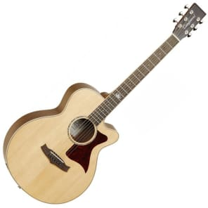 Tanglewood TW145-SS-CE Premier Solid Sitka Spruce/Mahogany Super Folk with Electronics Natural Satin