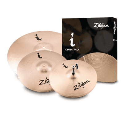 """Zildjian I Family Essentials Plus Pack with 13"""" / 14"""" / 18"""" Cymbals"""