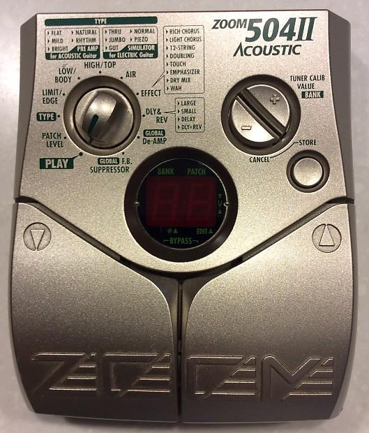 zoom 504 ii acoustic multi effects pedal reverb. Black Bedroom Furniture Sets. Home Design Ideas