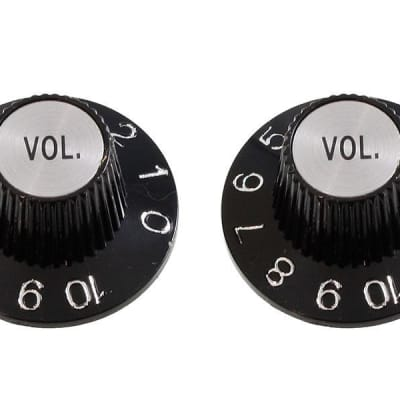 AllParts Black Witch Hat Volume Knobs - 2 Pack - PK-3244-023 Guitar for sale