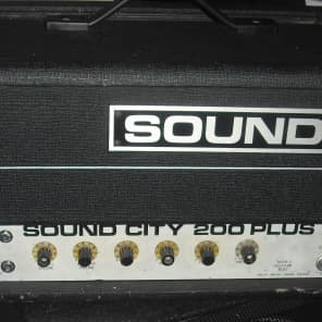 Sound City 200+ 70s vintage valve bass amplifier guitar amp kt88 SC200+ tube for sale