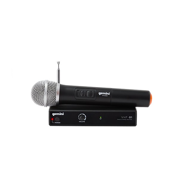 gemini vhf 01m single channel handheld wireless microphone reverb. Black Bedroom Furniture Sets. Home Design Ideas