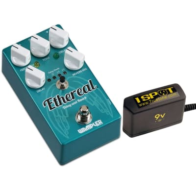 Wampler Ethereal Delay and Reverb Pedal Bundle w/ Truetone 1 Spot Space Saving 9v Adapter