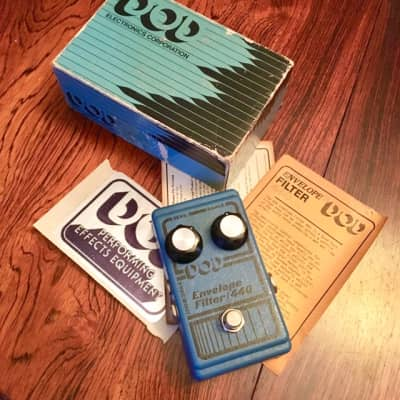 DOD  440 envelope filter pedal c 1980 Blue original vintage USA for sale