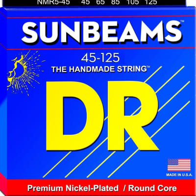 DR Sunbeam 5-string Bass 45-125