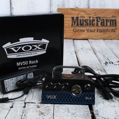 VOX MV50 CR Rock 50 Watt Electric Guitar Amplifier Head Hybrid Tube Amp Head